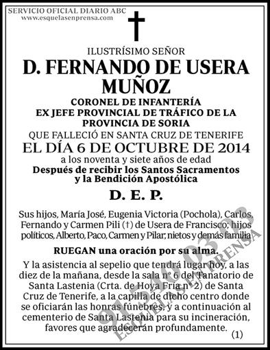 Fernando de Usera Muñoz